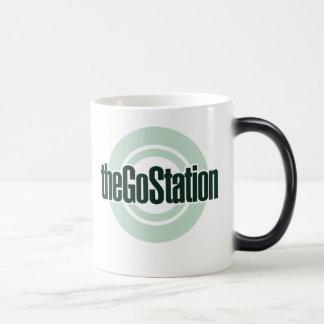 Heat-sensitive logo mug