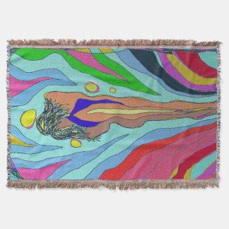 """heat"" throw blanket by Raine Carosin"