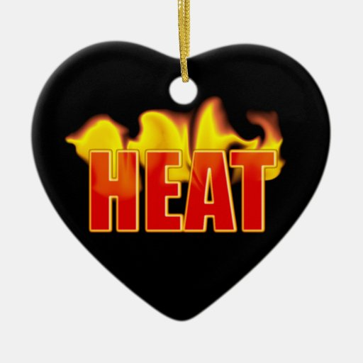 Heat With Burning Flames Birthday Pink Heart Christmas Ornament