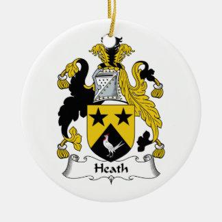 Heath Family Crest Round Ceramic Decoration