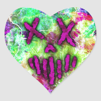Heathen Designs Logo Heart Sticker
