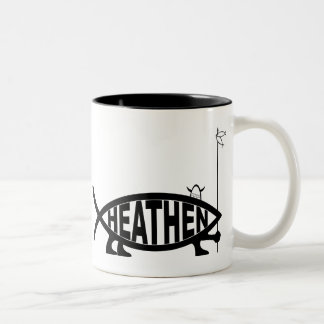 Heathen Fish Two-Tone Coffee Mug