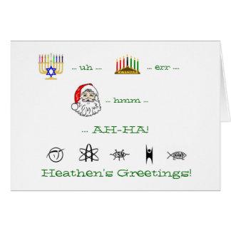 Heathen's Greetings atheist holiday card