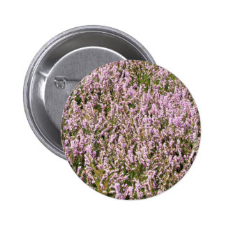 Heather Flowers Beautiful View Buttons