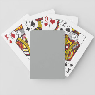 Heather Gray Solid Color Customize It Playing Cards