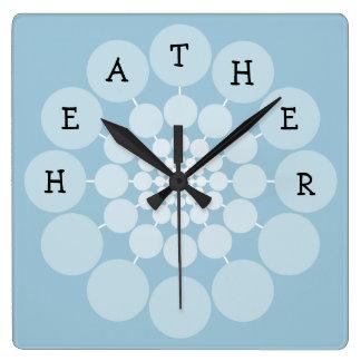 HEATHER Modern Fun Name Clock