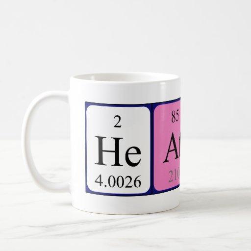Heather periodic table name mug