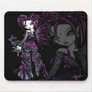 Heather Pink Flower Fairy Mousepad