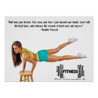 Heather Prescott Fitness Poster