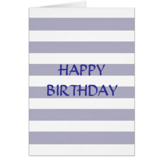 Heather Stripes Postage/Stamp Greeting Card