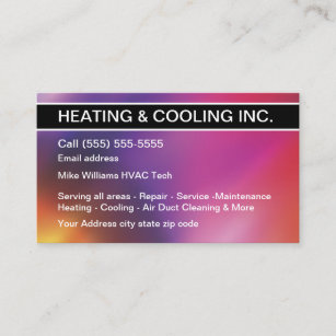 Air conditioning business cards zazzle au heating and cooling air conditioning business card reheart