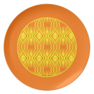 Heatwaves Orange Yellow Abstract Plate
