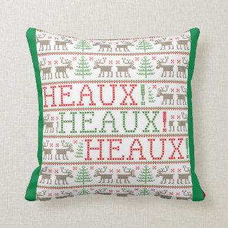 HEAUX! HEAUX! HEAUX! - Ugly Christmas Sweater Cushion