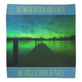 "Heaven And Earth Northern Lights Bandana"" Bandanna"