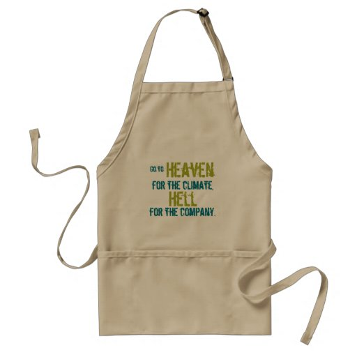 Heaven and hell aprons