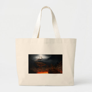 Heaven and hell large tote bag
