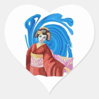 Heaven Awaits Heart Sticker