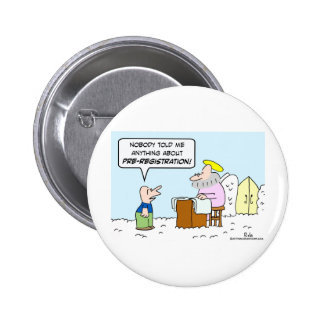 heaven christianity saint peter pre-registration pinback button