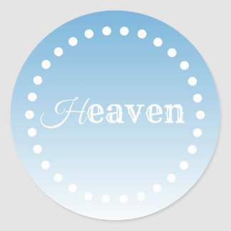 Heaven Classic Round Sticker