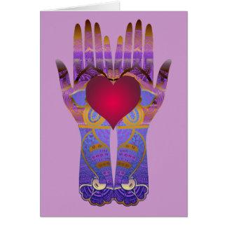 Heaven Hands Blank Card