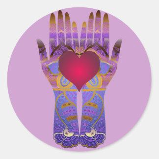 Heaven Hands Sticker