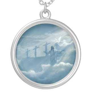 heaven in the sky silver plated necklace