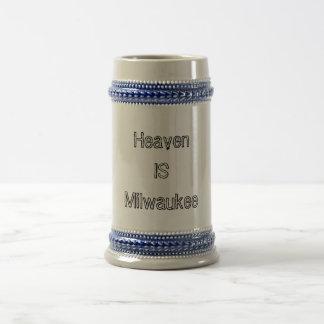 Heaven is Milwaukee Beer Stein
