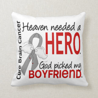 Heaven Needed a Hero Brain Cancer Boyfriend Throw Cushion