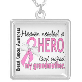 Heaven Needed A Hero Grandmother Breast Cancer Custom Necklace