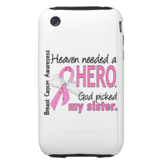 Heaven Needed A Hero Sister Breast Cancer Tough iPhone 3 Cover
