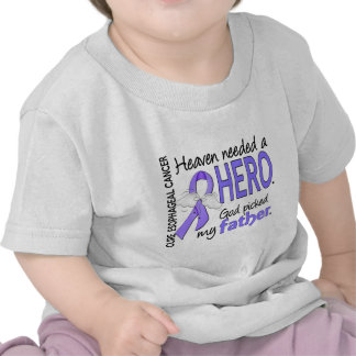 Heaven Needed Hero Esophageal Cancer Father Tee Shirts