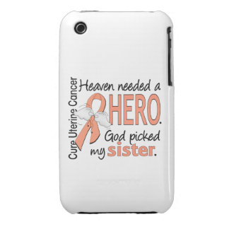 Heaven Needed Hero Uterine Cancer Sister Case-Mate iPhone 3 Cases