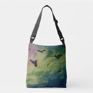 Heaven Of Birds Crossbody Bag