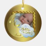 Heaven Sent Baby Photo Birth Ornament