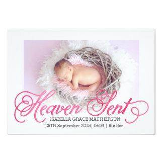 Heaven Sent Birth Announcement | Girl
