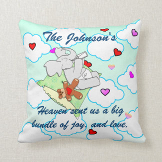 Heaven sent us Love  and Joy Cushion
