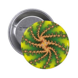 Heaven Twist - Fractal 6 Cm Round Badge