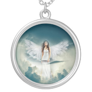 Heavenly Angel Silver Plated Necklace