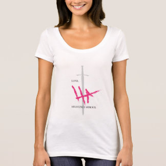 HEAVENLY ARMOUR PINK SIGNATURE Pink/Grey T-Shirt