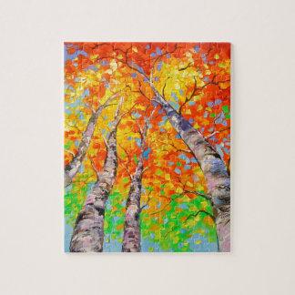 Heavenly birch jigsaw puzzle