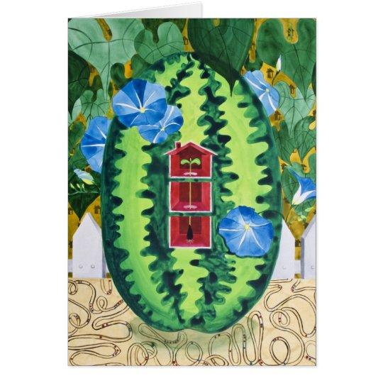 Heavenly Blue by Catharine Kim Woodin Card