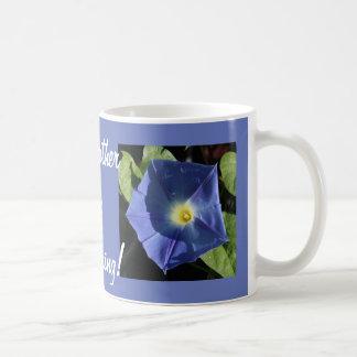 Heavenly Blue Morning Glory Basic White Mug