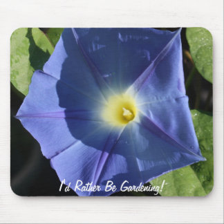 Heavenly Blue Morning Glory Mouse Pad