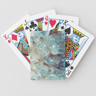 Heavenly Blue Quartz Crystal Bicycle Playing Cards