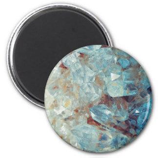 Heavenly Blue Quartz Crystal Magnet