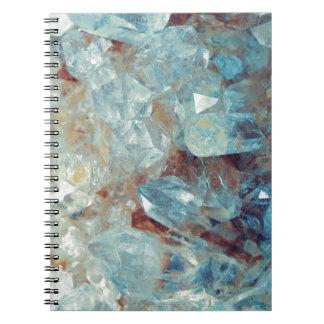 Heavenly Blue Quartz Crystal Notebook