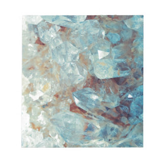 Heavenly Blue Quartz Crystal Notepad