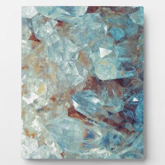 Heavenly Blue Quartz Crystal Plaque