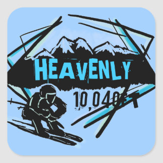 Heavenly California elevation blue ski stickers