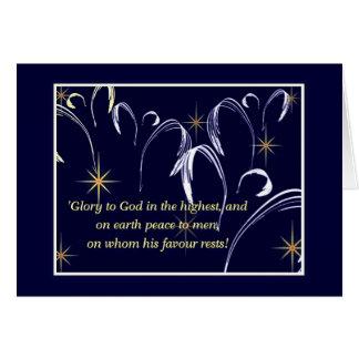 Heavenly chorus greeting card